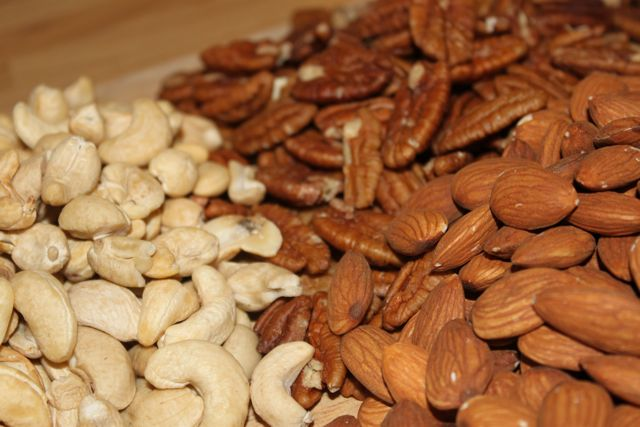 Almonds, Cashews, Pecans